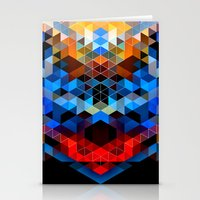 Red Beast Crowned In Blu… Stationery Cards