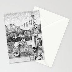 Fox on Fishing-boat Stationery Cards