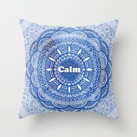Calming Serenity Blue Ma… Throw Pillow