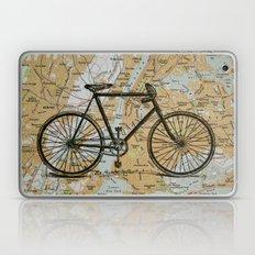 Bike Ride in New York City Laptop & iPad Skin