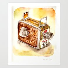 Vintage gadget series: Kodak Brownie 8mm Movie Camera (1956) Art Print