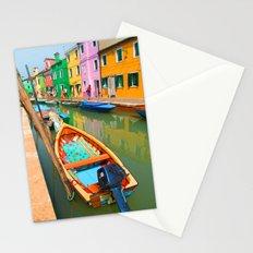 burano, italy - boat Stationery Cards