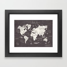 The World Map Framed Art Print