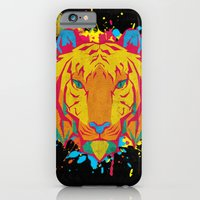 iPhone & iPod Case featuring Cat Series: Tiger by UvinArt