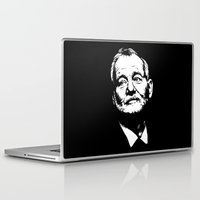 bill murray Laptop & iPad Skins featuring Bill Murray by Laura Lindsey