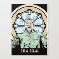 Total Recall - Arnold Sc… Canvas Print