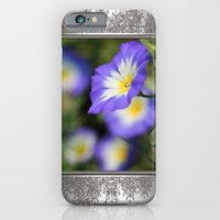 iPhone & iPod Case featuring Morning Glory named Blue Ensign by JMcCombie
