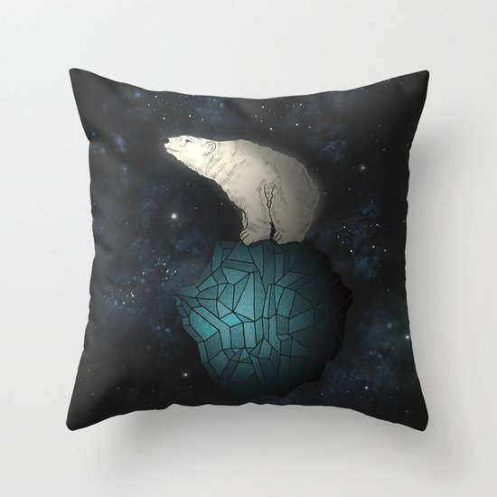 Bear Cosmos Throw Pillow