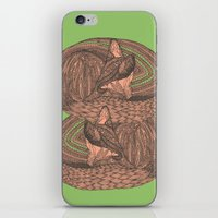 Sleeping foxes iPhone & iPod Skin