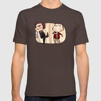 gross werewolves Mens Fitted Tee Brown SMALL