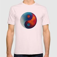 Yin Yang Symbol Mens Fitted Tee Light Pink SMALL