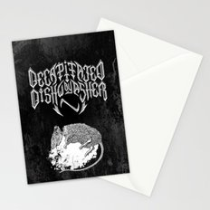 Decapitated by dishwasher II (black) Stationery Cards