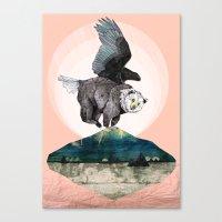 Beargle // Half Bear Hal… Canvas Print
