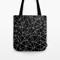 Abstraction Outline Blac… Tote Bag