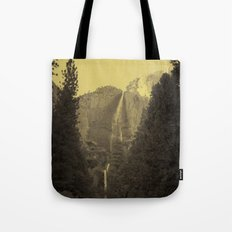 Yosemite Falls Tin Yellow Tote Bag