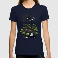 Never Trust a Bear Womens Fitted Tee Navy SMALL