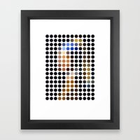 Girl with a Pearl Earring remixed (2009) Framed Art Print