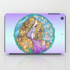 Rapunzel Art Nouveau White Background iPad Case