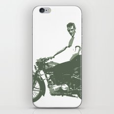 Dad on a Bike iPhone & iPod Skin