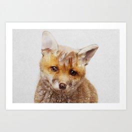 Art Print - Fox Cub - Andreas Lie