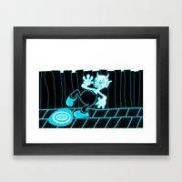 IMPERVIOUS PUDDLE. Framed Art Print