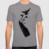 Bullet Birds Mens Fitted Tee Tri-Grey SMALL
