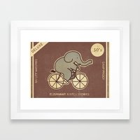 Elephant Match Works  Framed Art Print