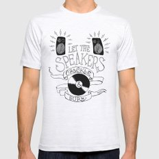 Let the Speakers... Mens Fitted Tee Ash Grey SMALL