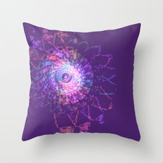 Rainbow Lace Spiral Throw Pillow