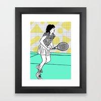 Gabi Sabatini Framed Art Print