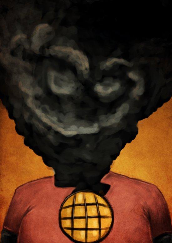 Captain Pollution Art Print