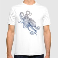 Octo Flow Mens Fitted Tee White SMALL