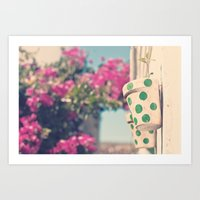 Nature And Polka Dots Art Print