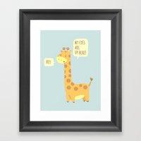 Giraffe Problems! - Baby… Framed Art Print