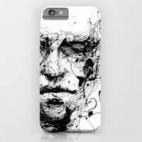 face iPhone & iPod Cases featuring lines hold the memories by agnes-cecile