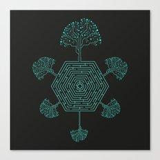 Natural Maze Canvas Print