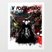 V- For Vandido Art Print