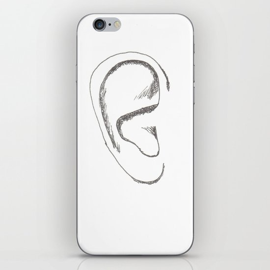an earful Right iPhone & iPod Skin