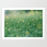 let the sunshine touch your heart Art Print