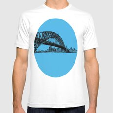 sydney in blue Mens Fitted Tee SMALL White