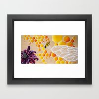 Save The Bees! Honey Bee… Framed Art Print