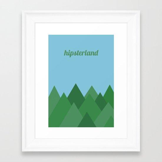 Hipsterland Framed Art Print
