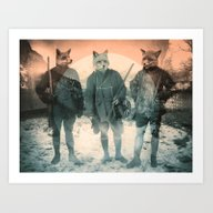 Art Print featuring Fox Hunt by Chase Kunz