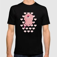 Squid Of Love (Valentine… Mens Fitted Tee Black SMALL