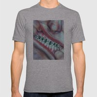 Money Mouth  Mens Fitted Tee Athletic Grey SMALL