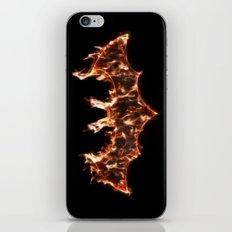 Bat On Fire iPhone & iPod Skin