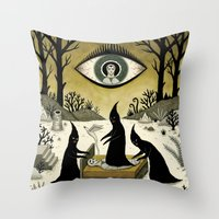 Three Shadow People Terr… Throw Pillow