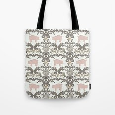 pig damask Tote Bag