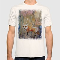 The Fox Mens Fitted Tee Natural SMALL