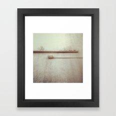 wall pipes Framed Art Print